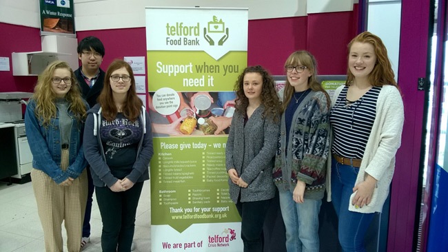 Students at Foodbank
