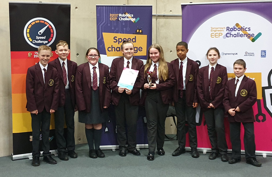 Thomas Telford School Robotics team crowned UK champions in the Tomorrow's Engineers EEP Robotics Challenge